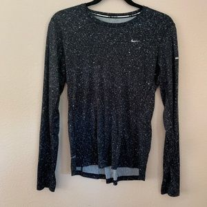 Nike Dri-Fit Long Sleeve Specked Top